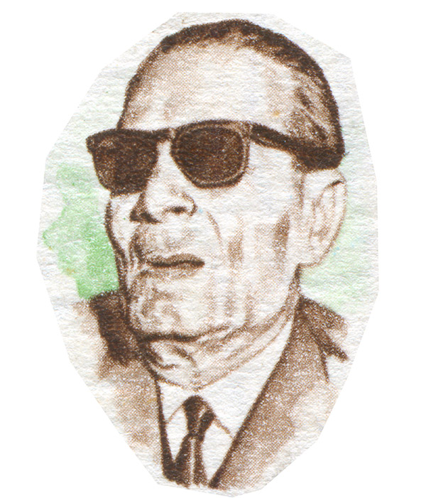 صورة لعميد الأدب العربي طه حسين